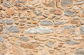 Texture Of A Stone Wall. Old Castle Stone Wall Texture Background. Briks Stone And Wall Texture. Gre poster