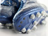 Brand new Shiny Blue Soccer boots / shoes poster