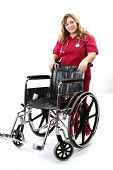 Nurse With Wheelchair