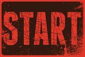 Start Typographical Vintage Style Grunge Poster. Retro Vector Illustration. poster