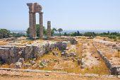 Постер, плакат: Акрополь Родоса на Монте Смит на острове Родос Греция