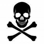stock photo of cranium  - Skull and crossbones  - JPG