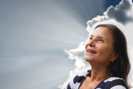 stock photo of beautiful senior woman  - Light at the End of the Tunnel  - JPG