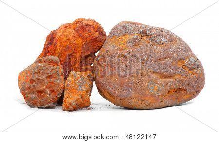 Постер, плакат: Железная руда магнетита и гематита от острова Эльба Италия , холст на подрамнике
