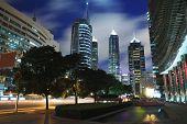 Look Up To Shanghai City Landmark Modern Buildings Background Night poster