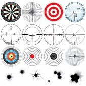 image of crosshair  - Set of Different Detailed Crosshairs and Targets - JPG