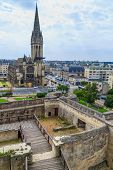Caen, Castle And L'eglise Saint-pierre, Normandy, France