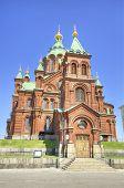 Uspenski Orthodox Cathedral, Famous Landmark In Helsinki, Finland. poster