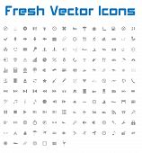 Fresh Vector Icons (dark Version)