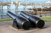 pic of cannon  - Antique cannon in Bar Harbor - JPG