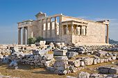 image of poseidon  - The Erechtheion with its famous Porch of the Maidens  - JPG