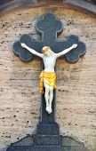 picture of crucifiction  - A statue of Jesus Christ crucified on a cross - JPG