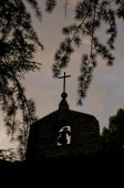 Bell Tower Silhouette Of A Medieval Chapel poster