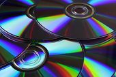 foto of diffraction  - optical disks with the effect of diffraction closeup - JPG
