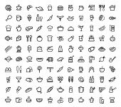 picture of chinese menu  - vector food icons set - JPG