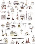 Large collection of city icons and transport