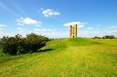 stock photo of broadway  - Broadway tower on Broadway Hill near Broadway Worcestershire England UK Western Europe.