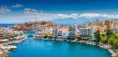 stock photo of greek-architecture  - Agios Nikolaos Crete Greece - JPG