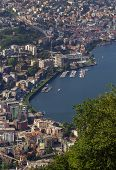 picture of salvatore  - view of Lugano from Monte San Salvatore Switzerland - JPG