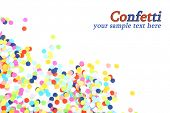 stock photo of confetti  - Confetti isolated on white - JPG