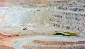 picture of open-pit mine  - Open pit mine in Balaklava near Sevastopol city