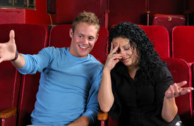 image of matinee  - A couple at a ballgame or event - JPG