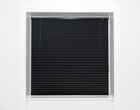 picture of goodnight  - Close up of a window with black blind - JPG