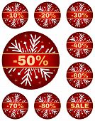 picture of year end sale  - Sale tags for christmas or new year or winter sale out - JPG