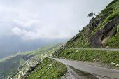 stock photo of manali-leh road  - View Of Himalayan Mountain Road Manali  - JPG
