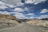stock photo of manali-leh road  - High Altitude Road In Indian Himalaya Mountains - JPG