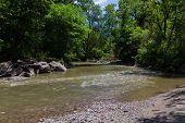 image of ravines  - A stream in a ravine in Canada - JPG