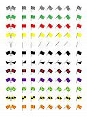 image of karts  - An Illustration of Different Karting Racing Flags - JPG