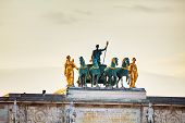 foto of chariot  - Sculpture of the chariot on top of the Arc de Triomphe du Carrousel in Paris - JPG