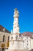 picture of trinity  - Holy Trinity column outside of Matthias Church in Budapest Hungary  - JPG