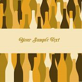 image of vinegar  - vector set of wine or vinegar bottles silhouettes for restaurant or party menu - JPG