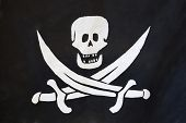 stock photo of pirate flag  - The image of a pirate flag - JPG