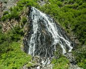image of bridal veil  - The Bridal Veil Falls near Valdez, Alaska