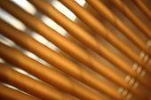 stock photo of jalousie  - Daylight through brown metal jalousie in closeup - JPG