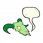 picture of ram  - cartoon magic ram skull with speech bubble - JPG
