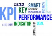 stock photo of indications  - A word cloud of key performance indicator related items - JPG