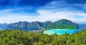 stock photo of phi phi  - Panorama of Phi - JPG