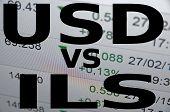 pic of shekel  - US dollar versus Israeli new shekel  - JPG