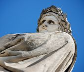 stock photo of alighieri  - Monument to Dante Alighieri an Italian poet of the Middle Ages - JPG