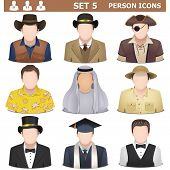image of camper  - Person icons set 5 - JPG