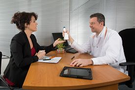 picture of prophylactic  - a Pharmaceutical Sales Representative at his office - JPG