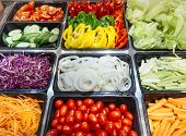 Постер, плакат: Salad Bar Fresh Vegetables Healthy Food