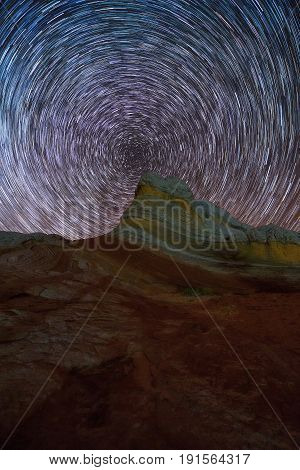 Startrails At White Pocket Wilderness