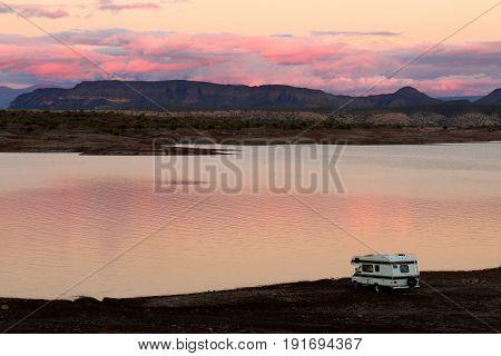 Camper Parked on