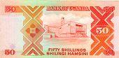 stock photo of shilling  - Old paper banknote money fifty Uganda shilling - JPG
