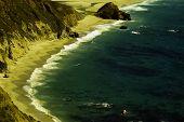 foto of pch  - Pacific Ocean waves crashing California Shore Coastline - JPG